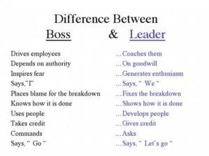 Boss-versus-leader