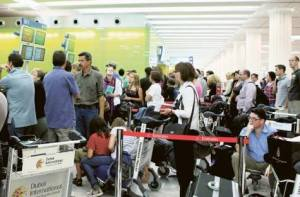 Dubai International Airport in busy times.