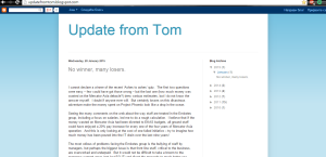 Mr.Tom Burgess's (former Senior Vice President in Emirates Airline) blog.